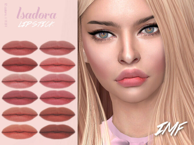 Sims 4 IMF Isadora Lipstick N.317 by IzzieMcFire at TSR