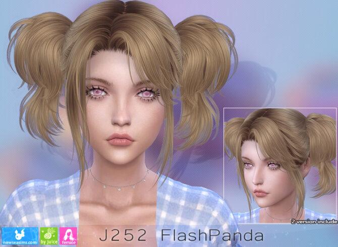 Sims 4 J252 FlashPanda hair (P) at Newsea Sims 4