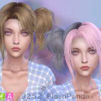 J252 FlashPanda hair Newsea Sims 4