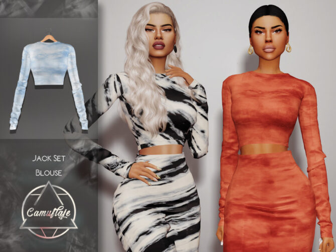 Jack Sims 4 Blouse by Camuflaje