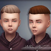 James Hair for Kids by Mathcope Sims 4