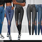 Jeans Sims 4 High Waisted