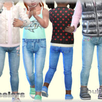 Jeans for toddler girls by bukovka Sims 4