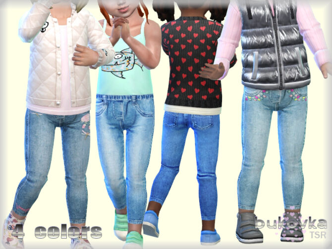 Sims 4 Jeans for toddler girls by bukovka at TSR