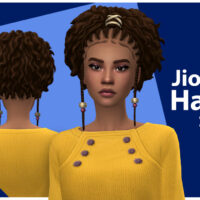 Jiona Hair Set by qicc for Sims 4