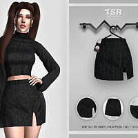 Knit Skirt Sims 4 Bd416 By Busra Tr