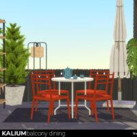 Kalium Balcony Sims 4 Dining