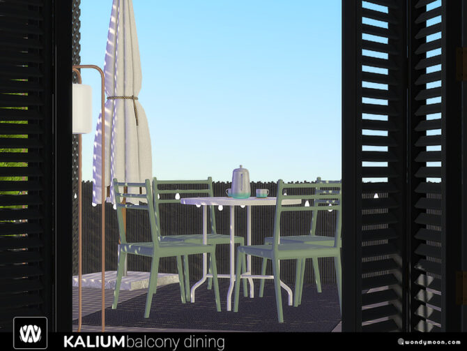 Sims 4 Kalium Balcony Dining by wondymoon at TSR