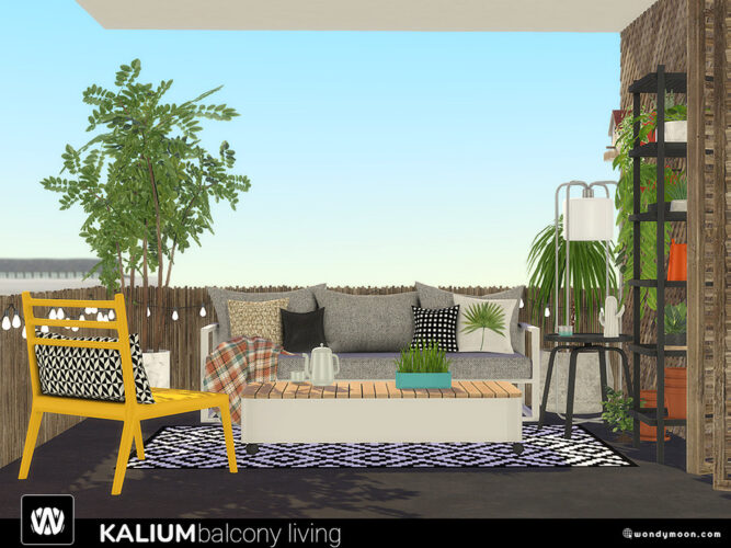 Kalium Furniture Sims 4 Balcony Outdoor Living