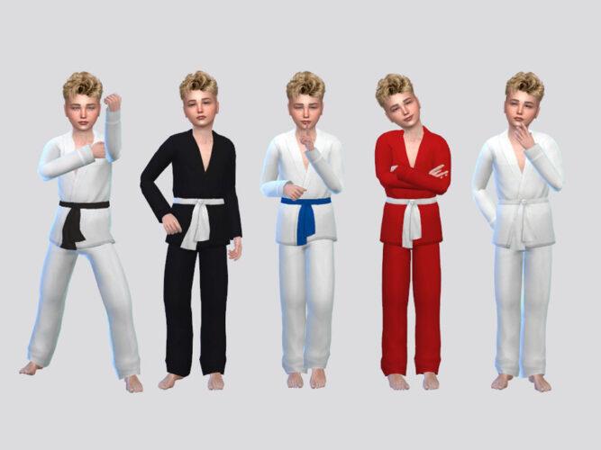 Karate Sims 4 Uniform Boys
