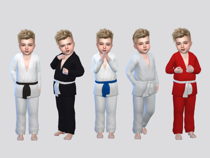 Karate Sims 4 Uniform Toddler Boys