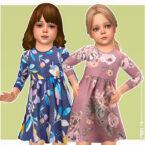 Kessy Sims 4 Dress for toddler girls