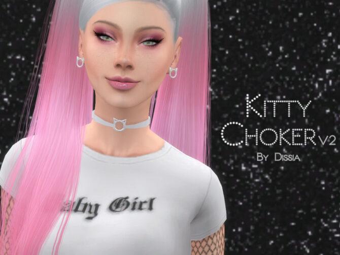 Kitty Sims 4 Choker v2 by Dissia