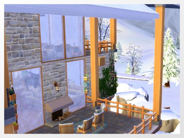 Sims 4 Kiyomatsu chalet by Oldbox at All 4 Sims