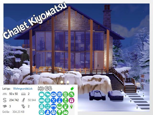 Kiyomatsu chalet Sims 4