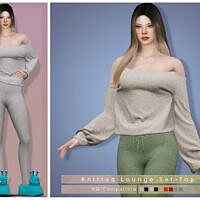 Knitted Lounge Sims 4 Top