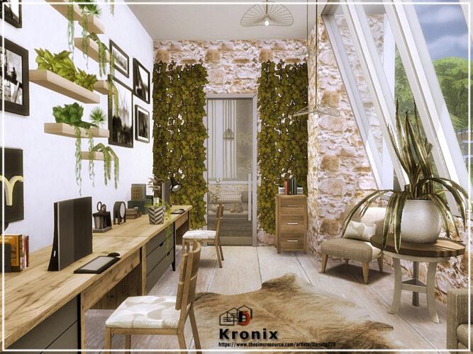 Kronix Sims 4 office by Danuta720