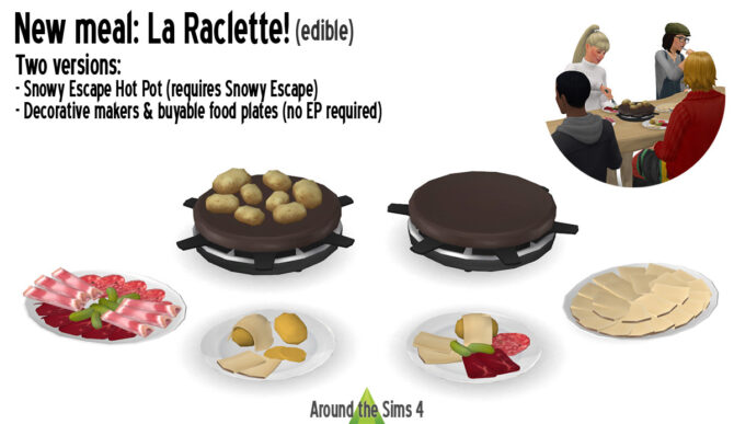 La Raclette edible meal by Around the Sims 4