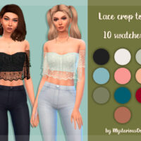Lace crop Sims 4 top