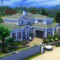 Large Suburban Sims 4 House