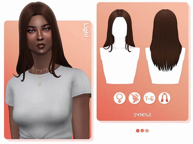 Light Sims 4 Hair