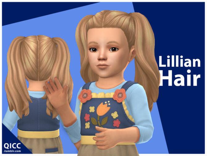 Lillian Hair for Toddler Sims 4