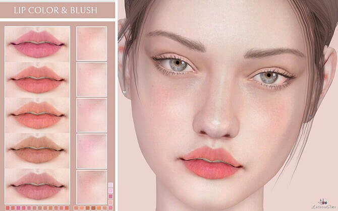 Lip Color Sims 4 Blush