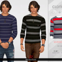 Long Shirt for Men by remaron Sims 4 CC 1