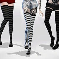 Long Striped Over Knee Socks by MaruChanBe