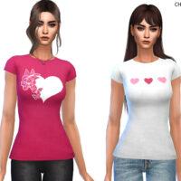 Lovely Sims 4 T shirt by CherryBerrySim
