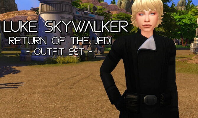 Sims 4 Luke Skywalker Outfit Maxis Recolours by soaplagoon at Mod The Sims