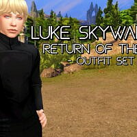Luke Skywalker Sims 4 Outfit Maxis Recolours