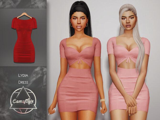 Sims 4 Lydia Dress by Camuflaje at TSR