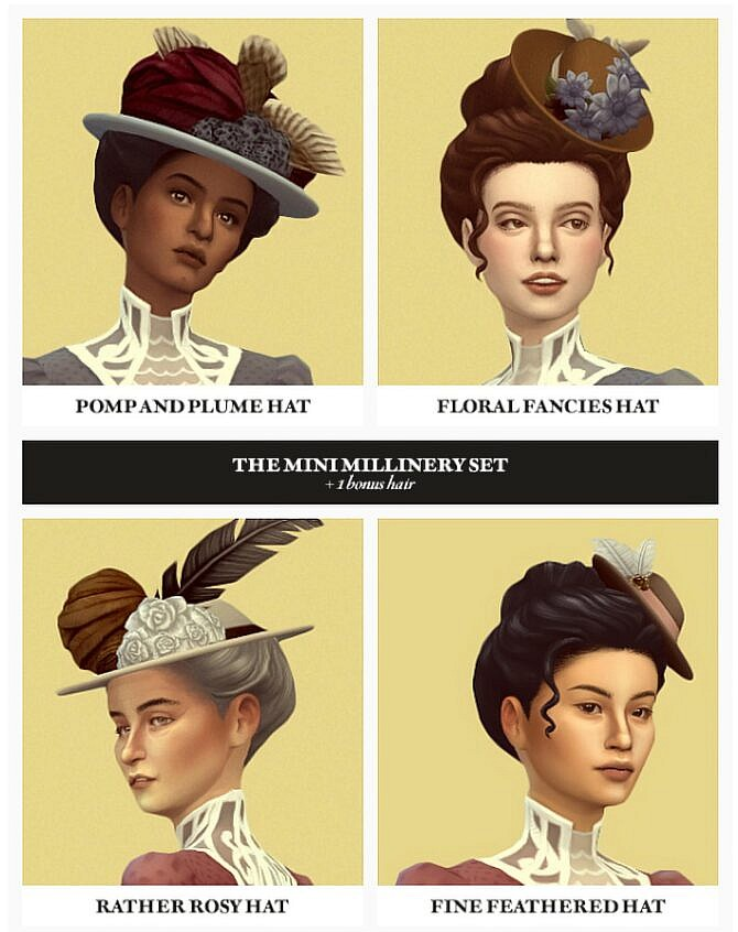 Sims 4 The MINI MILLINERY Set at Gilded Ghosts