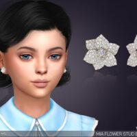Mia Flower Stud Sims 4 Earrings For Kids