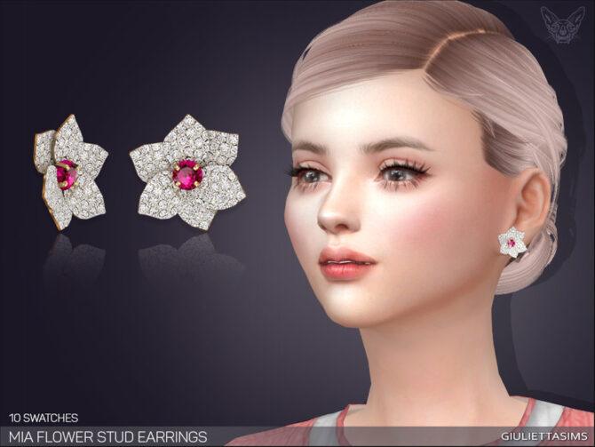Mia Flower Stud Sims Earrings