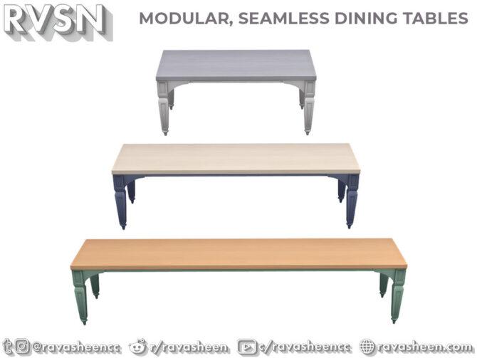 Sims 4 Modular Seamless Table Talk by RAVASHEEN at TSR