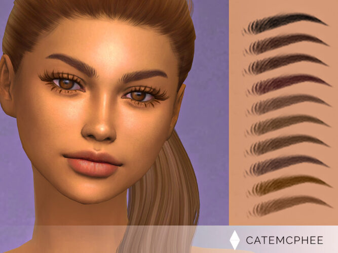 Molly Brows for Sims 4 by catemcphee