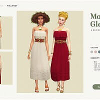 Morning Glory Midi Dress Sims 4