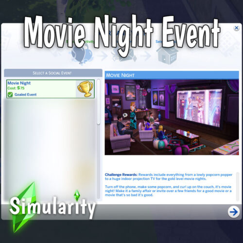 Movie Night Event Mod The Sims 4