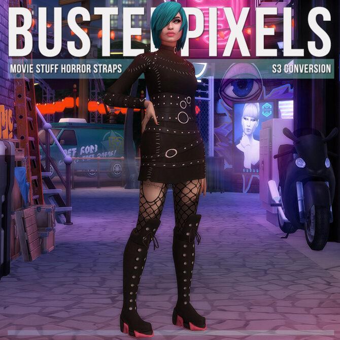 Movie Stuff Straps Sims 4 Dress