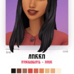 Narra hair by Marso Sims 4