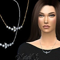 Necklace Sims 4 Diamond Cluster