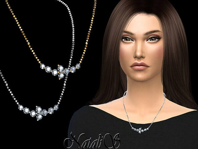 Sims 4 Diamond cluster chain by NataliS at TSR