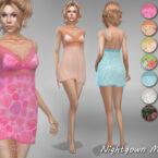 Nightgown Meja 8 by Jaru Sims 4 CC