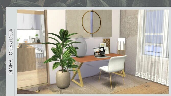 Sims 4 Opera Desk at Dinha Gamer