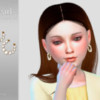Pearl Child Sims 4 Earrings by Suzue