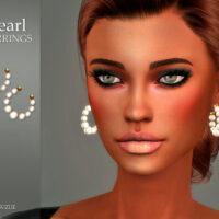 Pearl Sims 4 Earrings by Suzue
