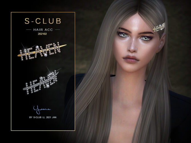 Sims 4 Pearl hairpin 202102 by S Club LL at TSR