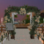 Pier Wedding Beach Sims 4